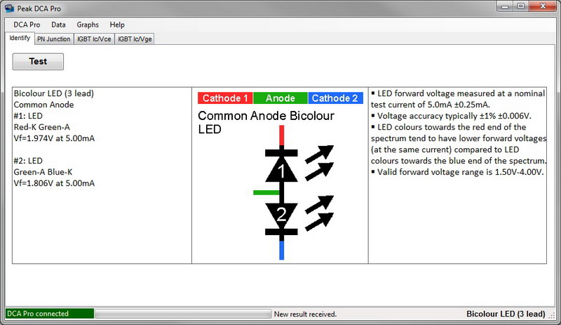 Common Anode Bicolour LED